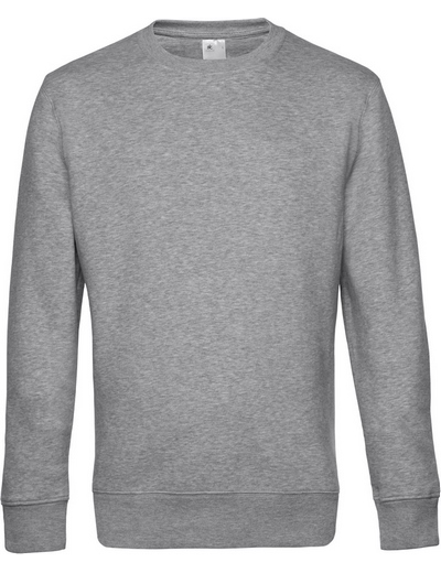 O82•B&C KING CREW NECK, 2XL, heather grey (15)